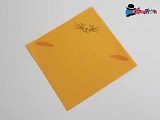base coniglietto - quadrato 10 x 10 cm