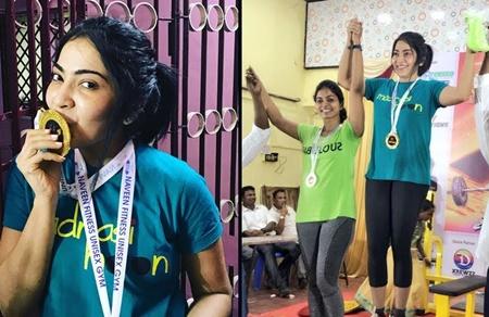 Ramya amidst cheers to powerlifting #girlpower #yougogirl