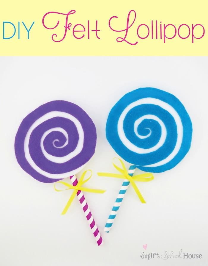Lollipop A Cute Felt Craft Tutorial Smart School House