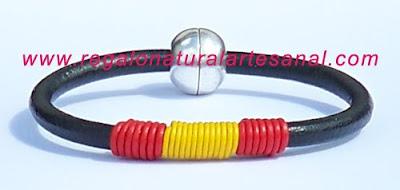 pulseras de cuero bandera de España