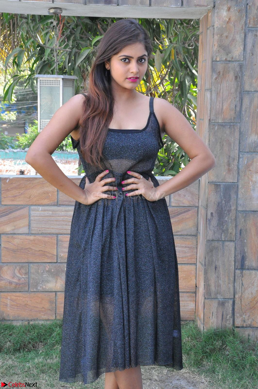 Pragya Nayan New Fresh Telugu Actress Stunning Transparent Black Deep neck Dress ~ CelebsNext Exclusive Galleries