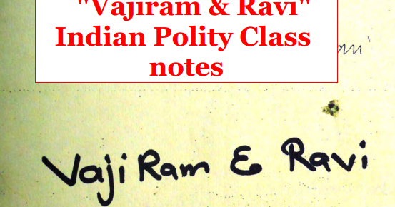 Download Vajiram & Ravi Indian Polity Class Notes - SscTyari