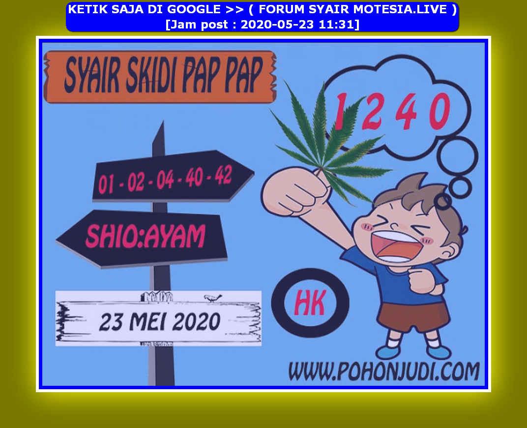 Kode syair Hongkong Sabtu 23 Mei 2020 194