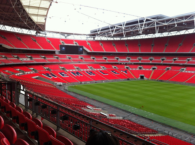 The hallowed turf of Wembley Stadium