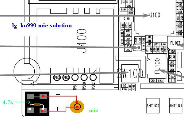lg ku990 mic solution