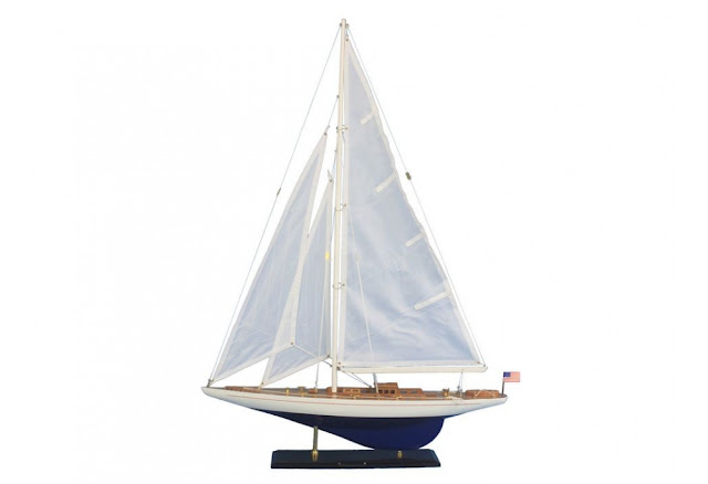 Yacht Enterprise Decorative Sailboat Model