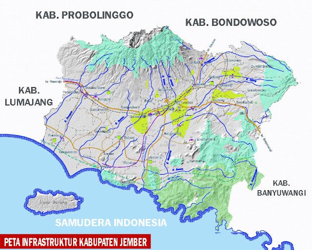 Gambar Peta infrastruktur Kabupaten Jember