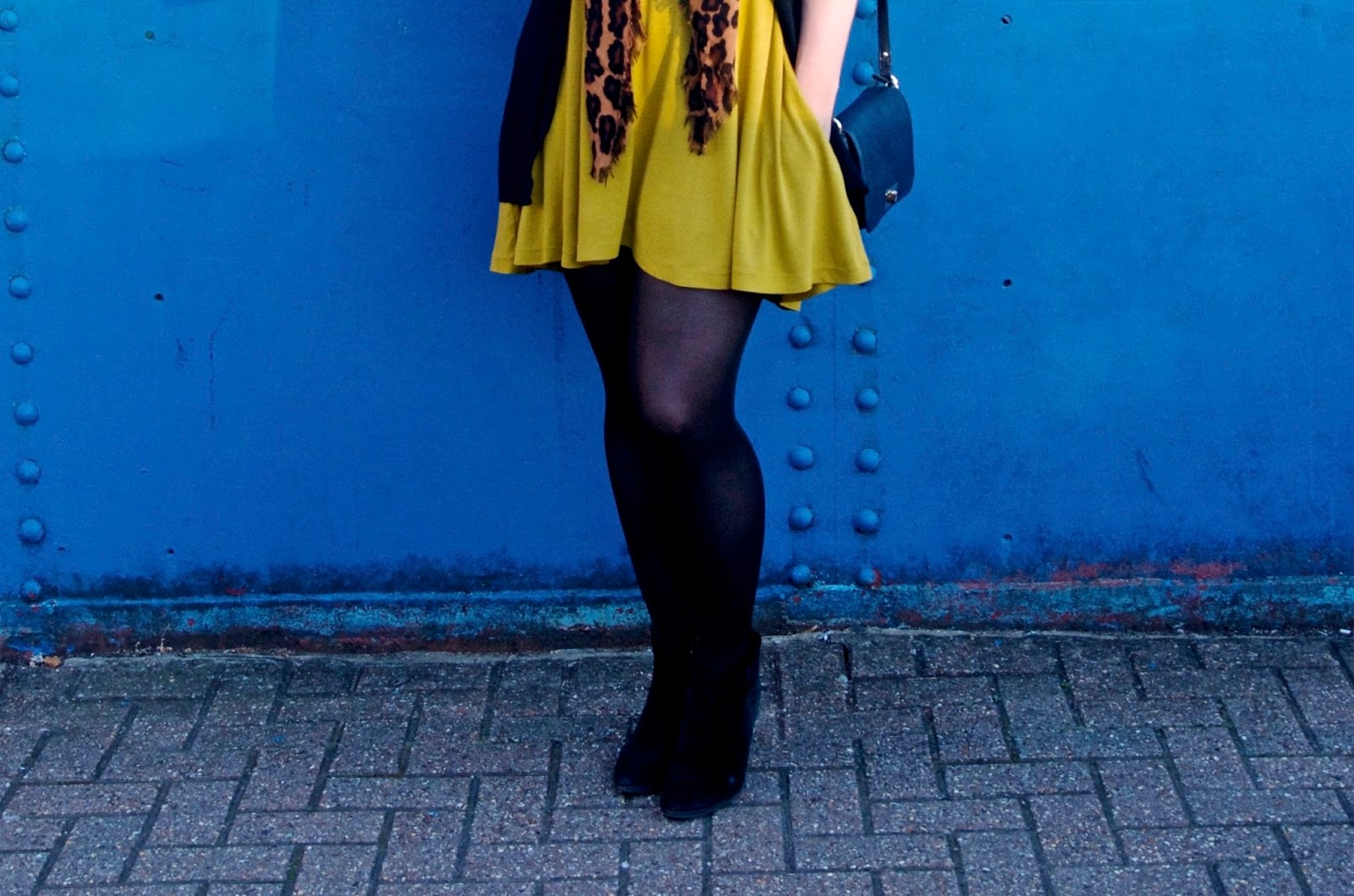 mustard minidress