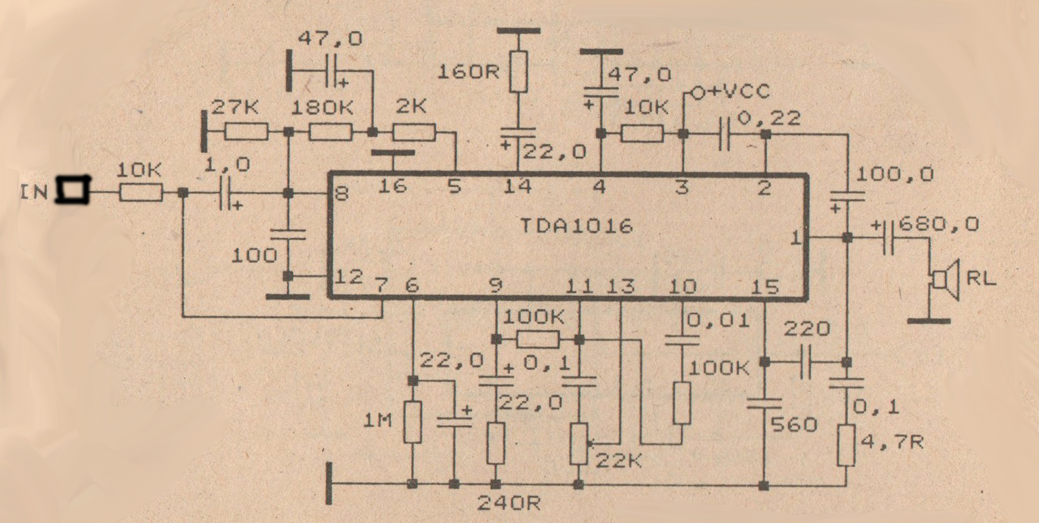 5w power amplifier with ic tda1016 diy circuit rh avecircuits blogspot com