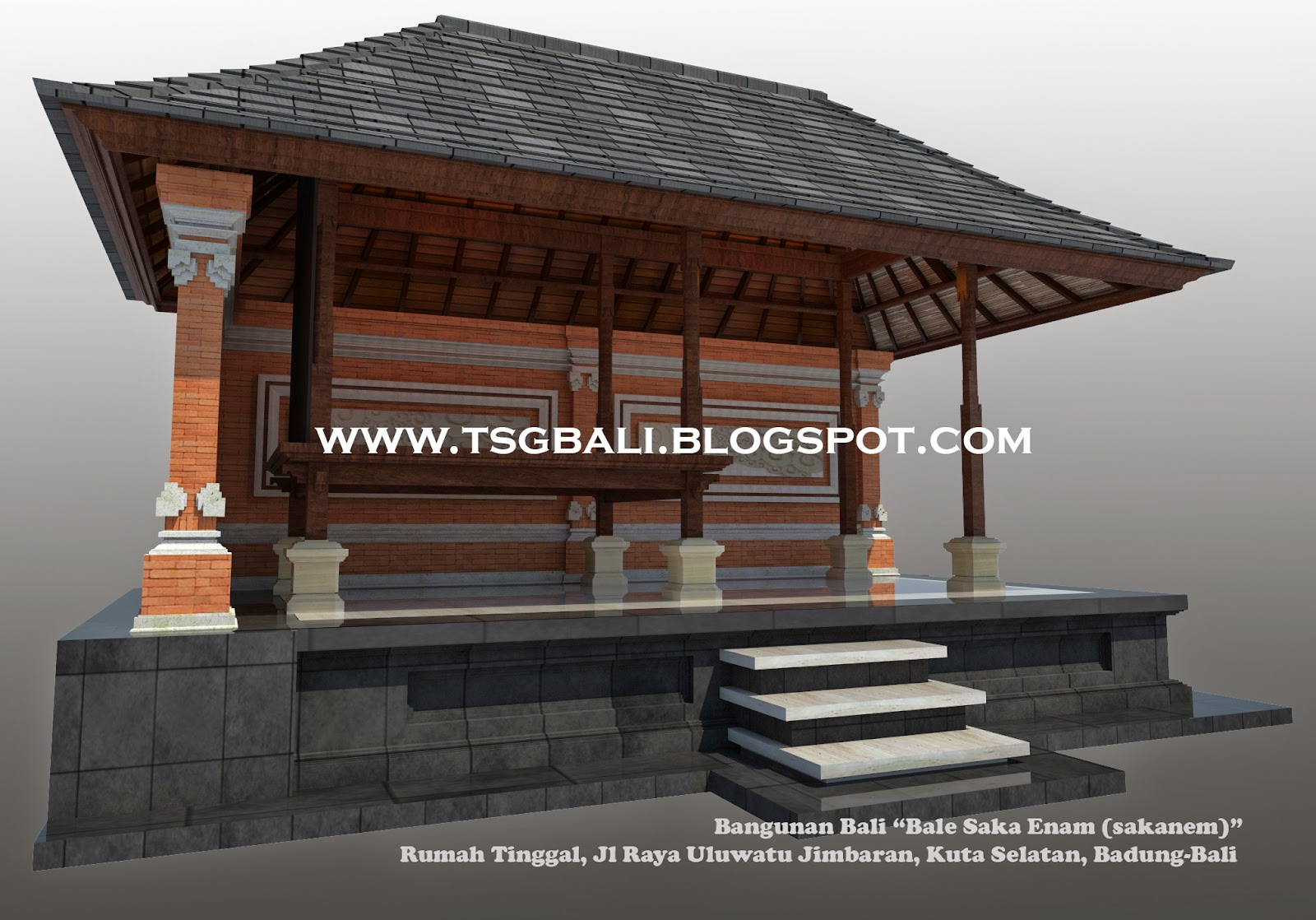 Desain Rumah Bale Bali Bangunan Sakanem I Arsitektur Bali Modern