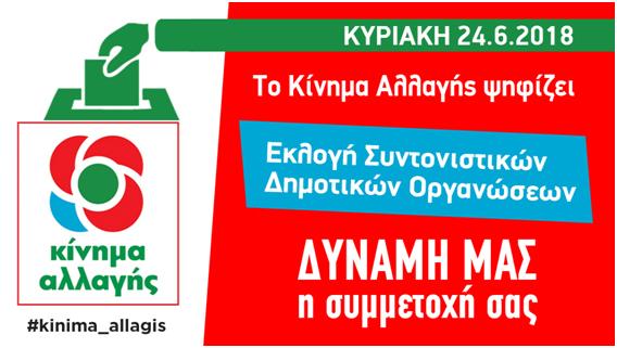 Αργολίδα: Πρόσκληση στην Εκλογική διαδικασία του ΚΙΝΗΜΑΤΟΣ ΑΛΛΑΓΗΣ