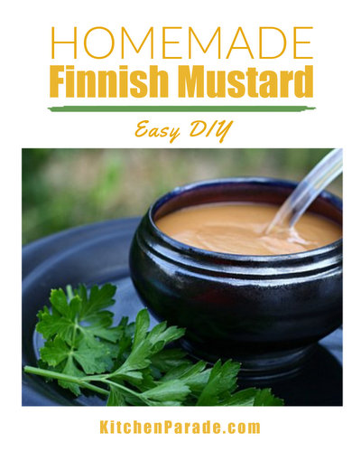 Homemade Finnish Mustard ♥ KitchenParade.com, homemade mustard Finnish-style, a creamy, spicy mustard just like the amazing mustards in Finland.