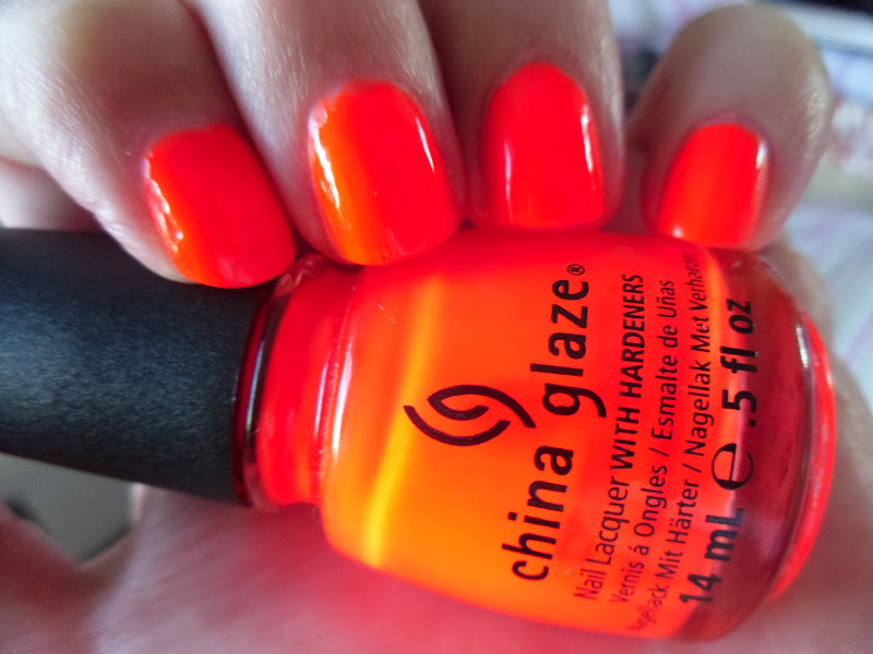 China Glaze Orange Knockout Swatch