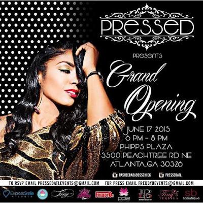 Rasheeda - PRESSED Grand Opening Invitation