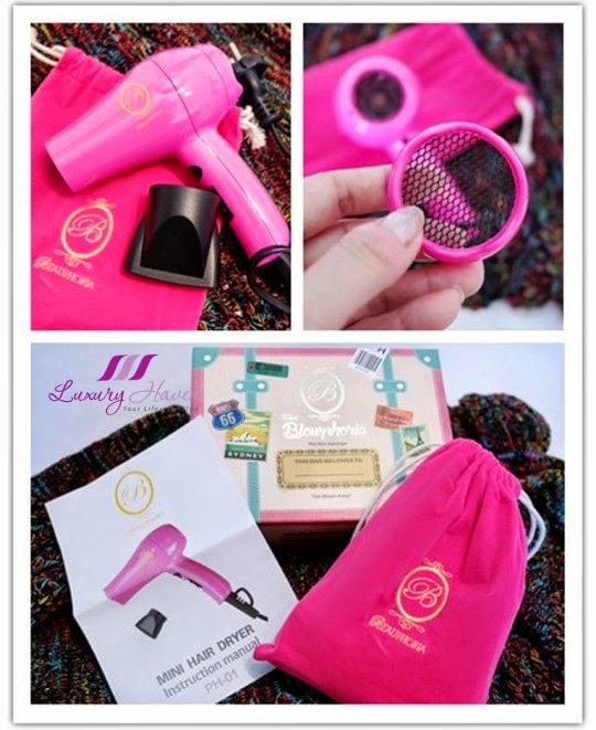 immortelle atelier pink mini blowphoria hair dryer review