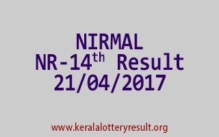 NIRMAL Lottery NR 14 Results 21-4-2017