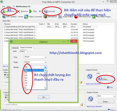 Phần mềm chuyển đổi M4A sang MP3