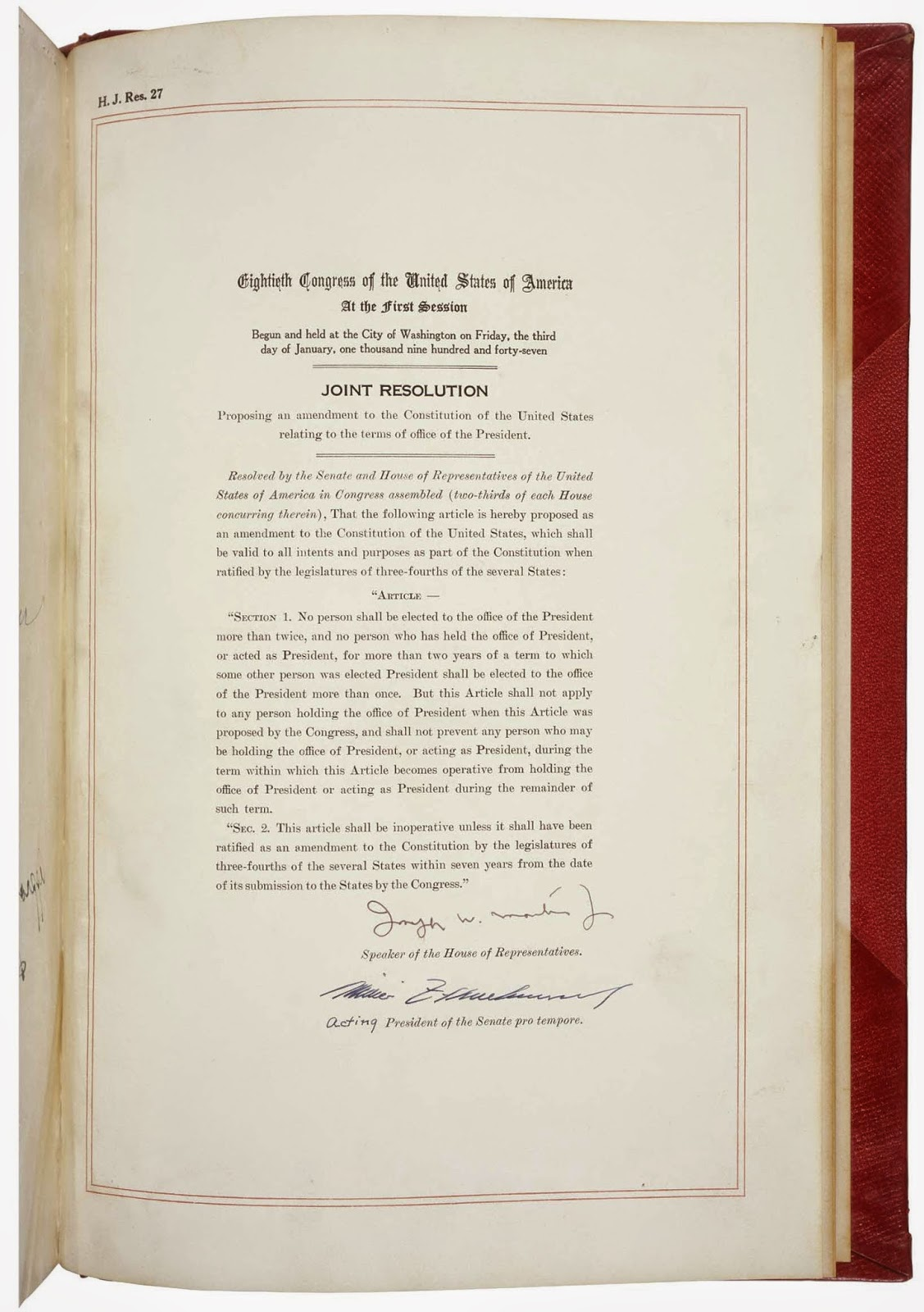 Wayne geiger february 2016 1951 the 22nd amendment to the constitution was ratified limiting a president to two terms in office read more hexwebz Images