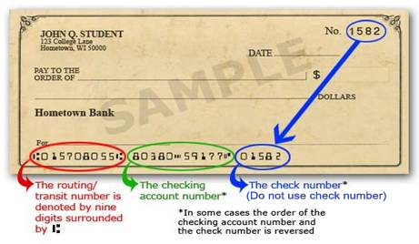 AutoChess: How do I locate my bank routing number and checking