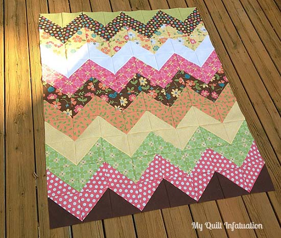 Easy Chevron Quilt Tutorial from My Quilt Infatuation
