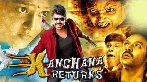 Poster Of Kanchana Returns In Hindi Dubbed 300MB Compressed Small Size Pc Movie Free Download Only At worldfree4u.com
