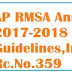 Rc.No.359 AP #RMSA School Annual Grants 2017-2018 Utilization Guidelines,Instructions