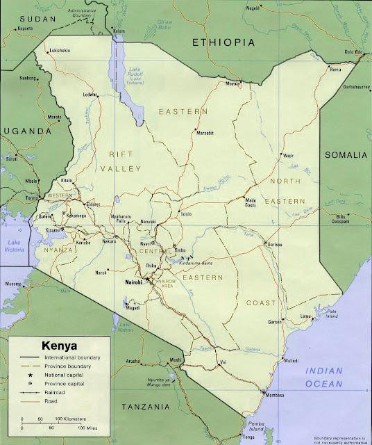 image: Political Kenya map