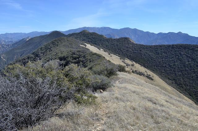 track along the ridge