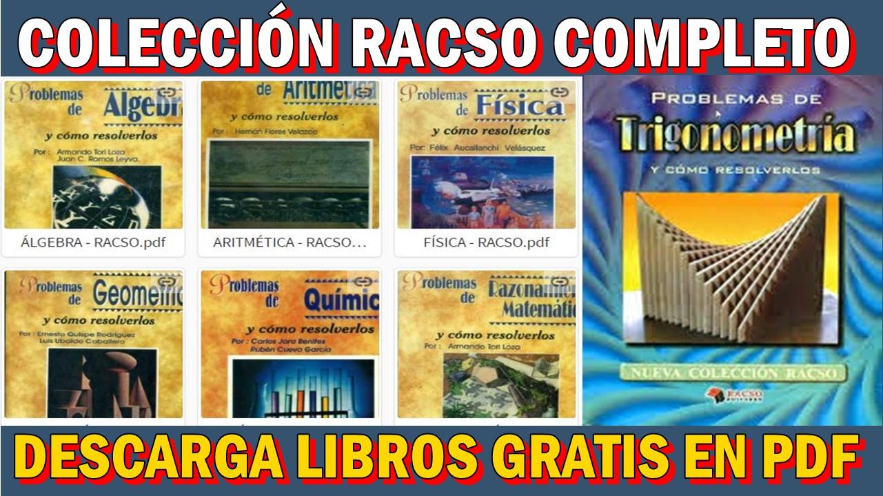 DESCARGA GRATIS LOS LIBROS DE LA COLECCIÓN RACSO