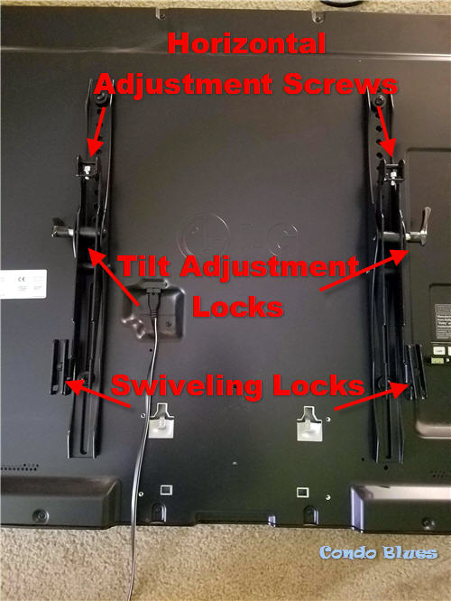 how to level and adjust a flat panel tv mount