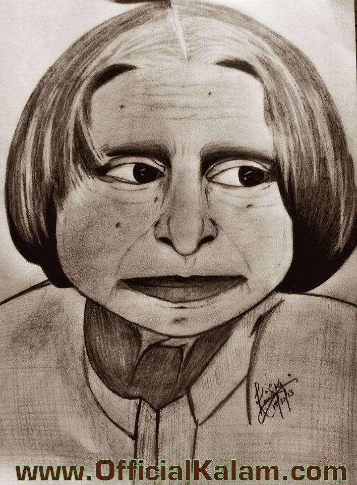 Dr. A.P.J. Abdul Kalam Pencil Art | Official Kalam