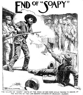 sketch of Soapy Smith's death