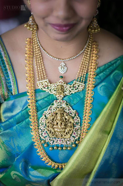 Bride in Multi Strings Necklace