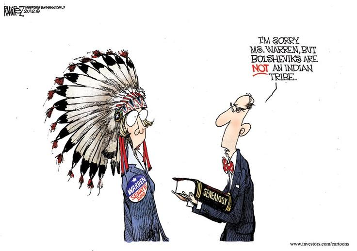 Image result for Sen. Elizabeth Warren cartoon