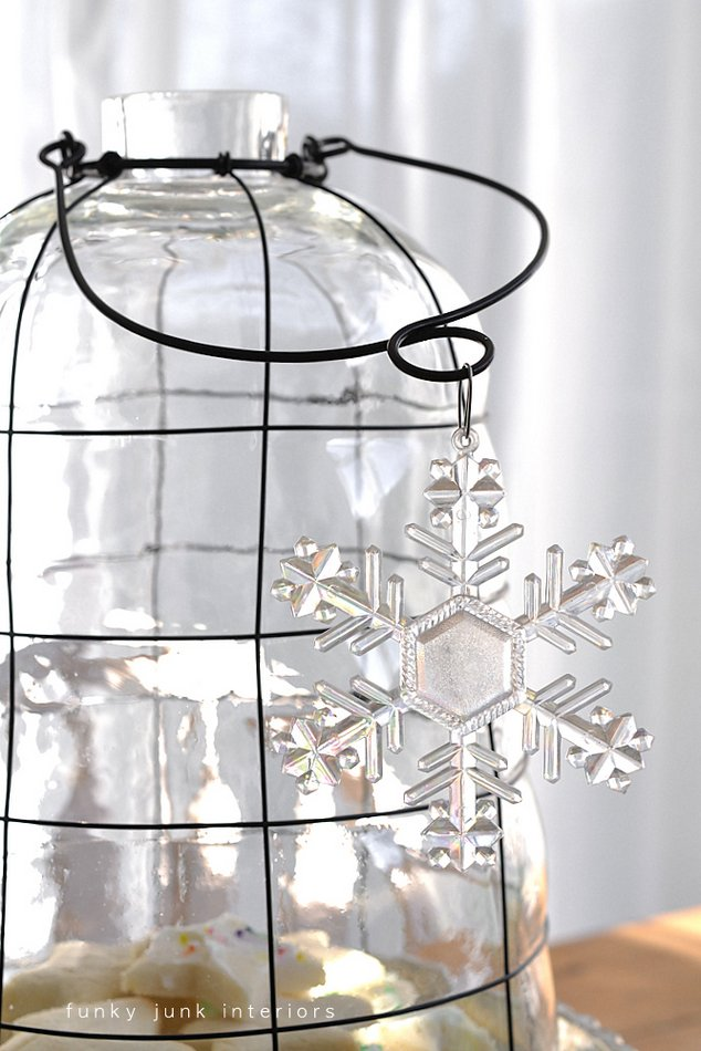 Ringing in the New Year with food, junk, and my first cloche - a post of a food inspired centrepiece via Funky Junk Interiors