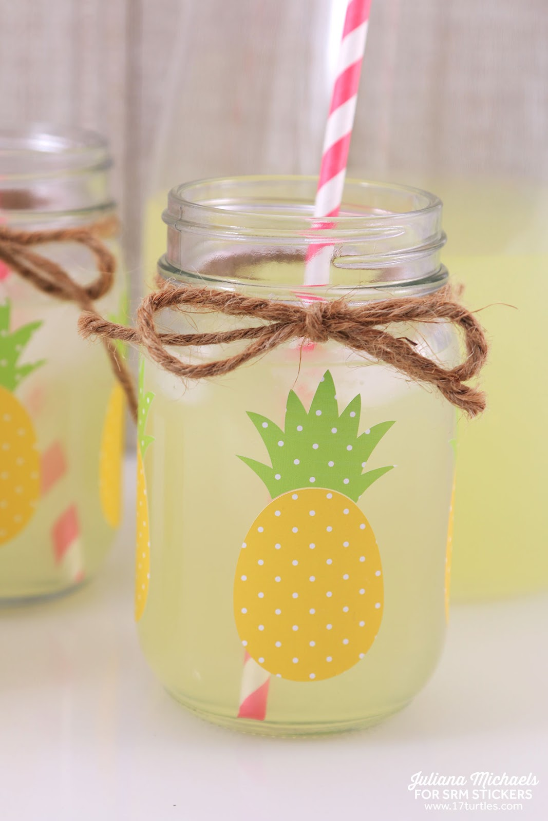 Srm Stickers Pineapple Mason Jars With Patterned Vinyl By