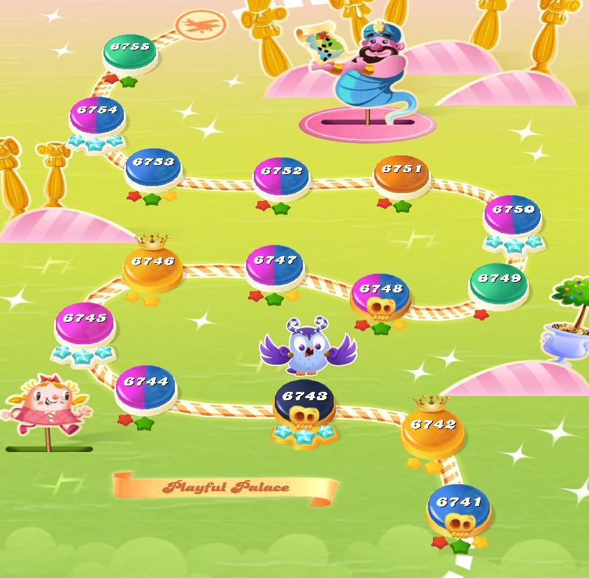 Candy Crush Saga level 6741-6755