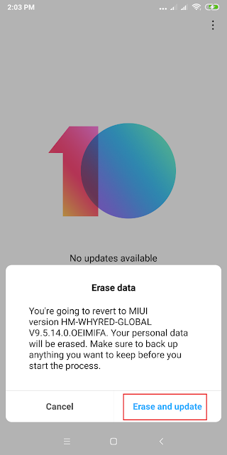 Cara Downgrade / Roll Back MIUI 10 ke MIUI 9 Semua Xiaomi Terbaru