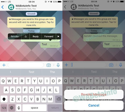WhatsApp revoke new features