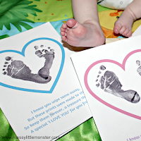 footprint poem - Valentines day craft for kids.