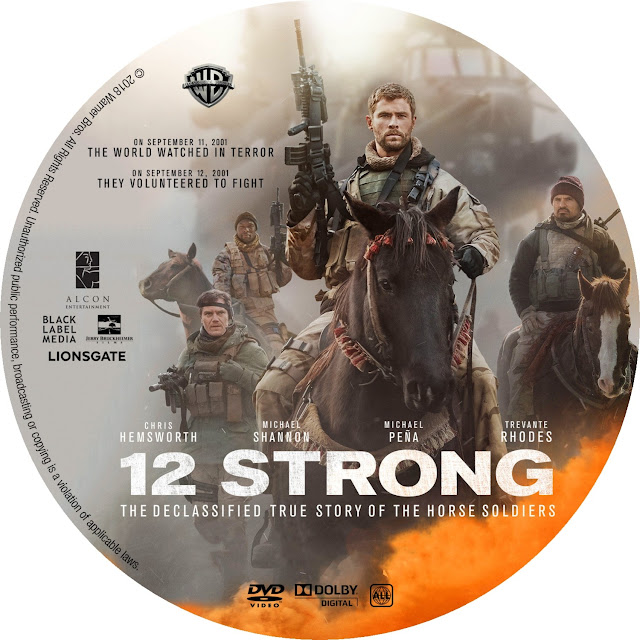 12 Strong DVD Label