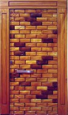puertas de madera exteriores