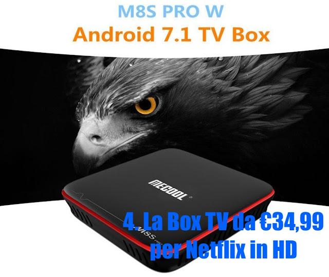 Mecool M8S Pro Plus Netflix fino a HD