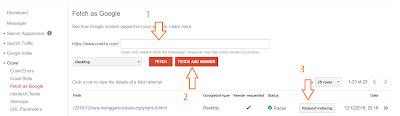 Cara Mempercepat Index Blog Di google