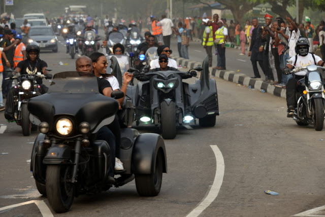 Bikers at Calabar Bikers' Carnival