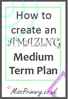 primary school teacher advice on planning medium term with templates