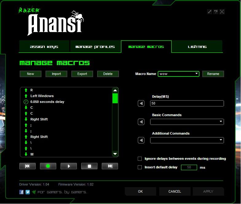 Razer Anansi Keyboard review 4