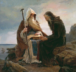 Saints Anthony and Theodosius of the Kiev- Pechersk, S.Afonina, 1995