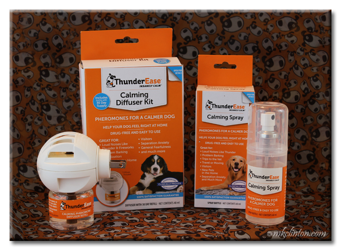 Try ThunderEase Calming Diffuser Kit and Calming Spray for your dog