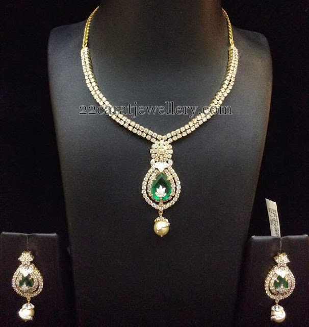Simple Diamond Sets By Bombay Jewellery Jewellery Designs